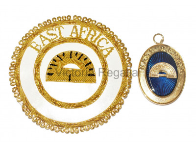 Provincial/District Hand Embroidered Apron Badge and Collar Jewel - English Constitution