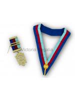 Royal Arch Tri-Colour Collarette and Breast Jewel Set - English Constitution