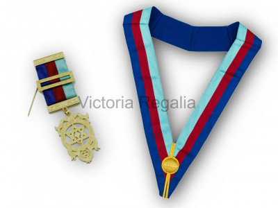 Royal Arch Tri-Colour Collarette and Breast Jewel Set - English Constitution
