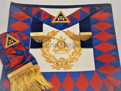 Supreme Grand Chapter Apron and Sash Finest- English Constitution
