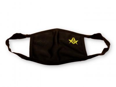 Freemasons Face Mask with Masonic Square, Compass & G