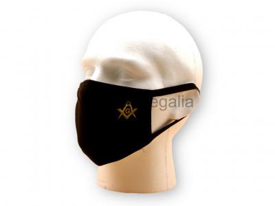 Freemasons Face Mask with Masonic Square, Compasses & G