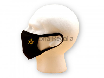 Freemasons Face Mask with Masonic Square, Compasses & G
