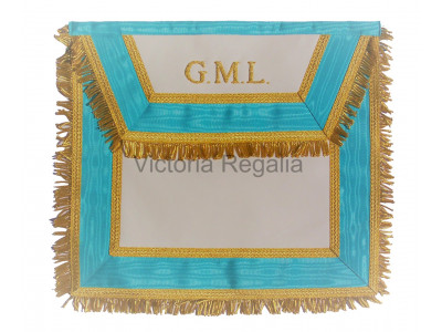 Irish Grand Master Lodge Apron Hand Embroidered GML - Irish Constitution