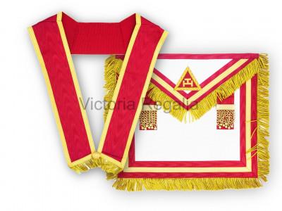 Irish RAC Provincial Lambskin Apron and Collar - No Badge - Irish Constitution