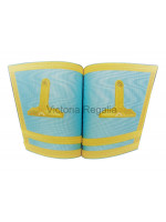 Sky Blue Gauntlets with Hand Embroidered Emblem of Office- Irish Constitution