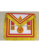 Irish RAC Supreme Apron Lambskin with gold Lace- Hand Embroidered Badge of Office