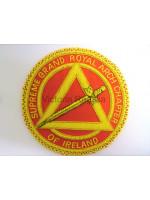 Irish RAC Hand Embroidered Apron Badge - Irish Constitution