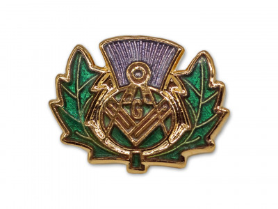 Thistle Masonic Freemasons Lapel Pin