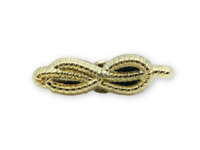 Freemasons Cable Tow Masonic Lapel Pin - Gold