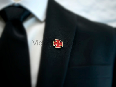 Masonic Nordic Cross Golden Lapel Pin