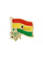 Freemasons Ghana Masonic Flag Lapel Pin