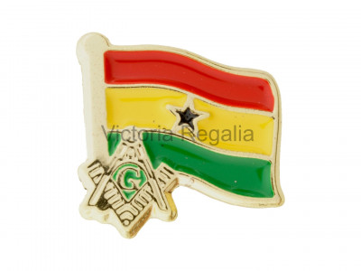 Freemasons Ghana Masonic Flag Lapel Pin