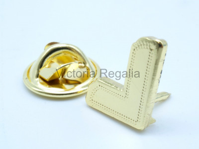 Freemasons Gold Coloured Square Lapel Pin