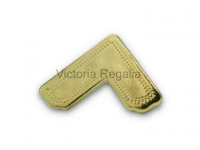 Freemasons Gold Coloured Square Lapel Pin