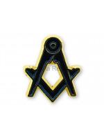 Freemasons Blue and Golden Square & Compass Masonic Lapel Pin