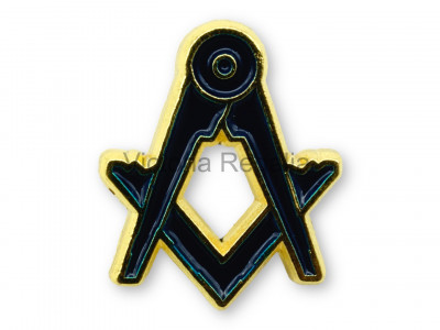 Freemasons Blue and Golden Square & Compass Masonic Lapel Pin