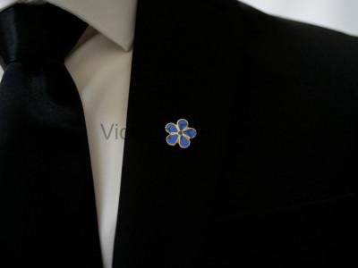 Forget Me Not Masonic Freemasons Lapel Pin - Large