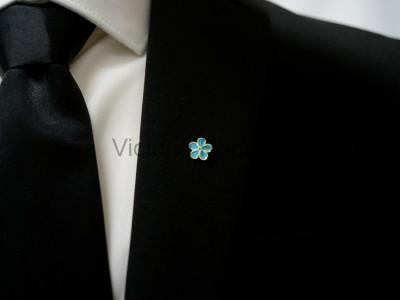 Forget Me Not Masonic Freemasons Lapel Pin
