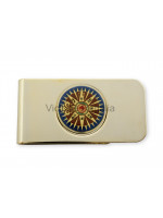 Money Clip with Decorative Compass - Golden Colour