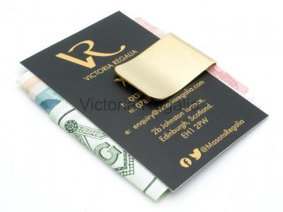 Money Clip with Decorative Compass - Golden Colour