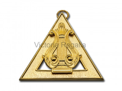 Royal Arch Officers Collar Jewel Organist - English Constitution