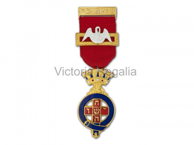 Rose Croix Past Most Wise Sovereign Breast Jewel - English Constitution