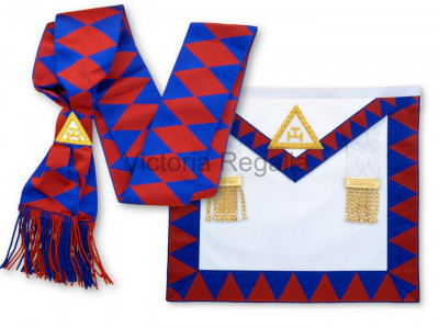 Royal Arch Companion Apron and Sash - Finest - Lambskin -  English Constitution