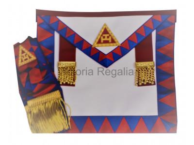Royal Arch Principals Apron and Sash set - Super - English Constitution