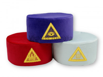 Royal Arch Cap Principals Hat Set of 3 hats- SCOTTISH