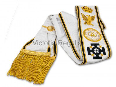 Red Cross of Constantine Grand Officer's Patriarchal Sash - English Constitution