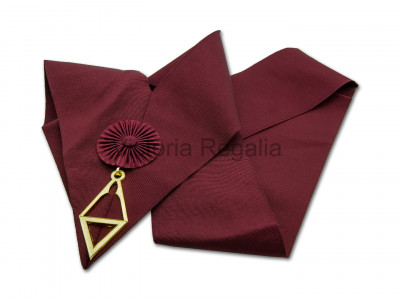 Royal Order of Scotland Crimson Cordon Sash with Jewel