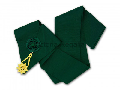 Royal Order of Scotland Green Cordon Sash with Jewel