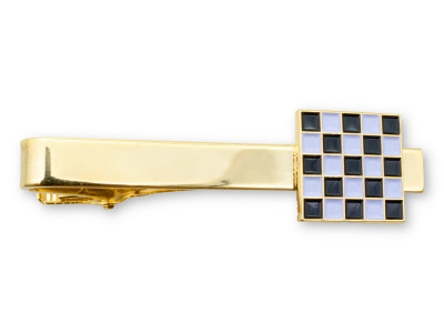 Masonic Chequered Tie Slide for Freemasons