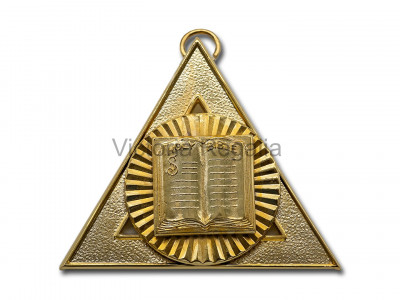 Royal Arch Officers Collar Jewel Third Principal - English Constitution