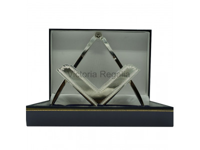 Square and Compass - Lodge Size  - boxed set - Silver