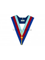 Grand Chapter 4'' Tri - Colour Collar - English Constitution