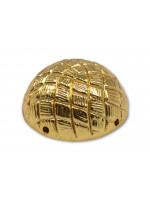 Button Collar Dome Basket Button Gilt