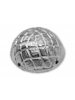 Button Collar Dome Basket Button Silver Plated