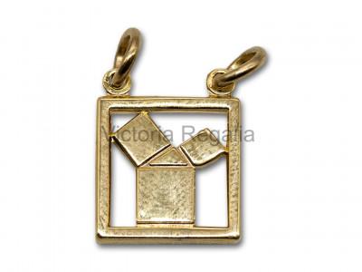 Masonic Euclids 47th Problem Silver Plated