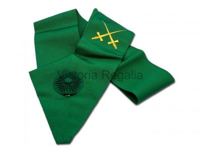 Knight Masons Sash - Green