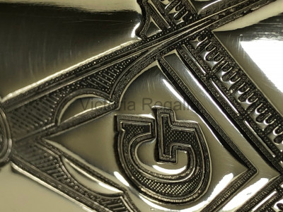 Masonic Hip Flask in Pewter Top Pocket Flask 3 oz