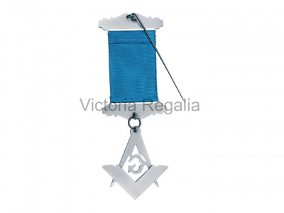 Past Master Breast Jewel - Sterling Silver- Irish Constitution