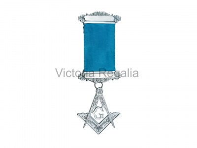 Past Master's Silver Plated Breast Jewel - Irish Constitution
