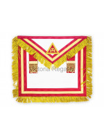 Irish RAC Supreme Apron Lambskin with Gold Lace no Badge - Crimson or Scarlet- Irish Constitution