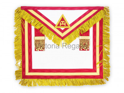 Irish RAC Supreme Apron Lambskin with Gold Lace no Badge - Crimson or Scarlet- Irish Constitution