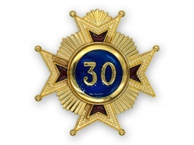 30th Degree Star jewel - English Constitution
