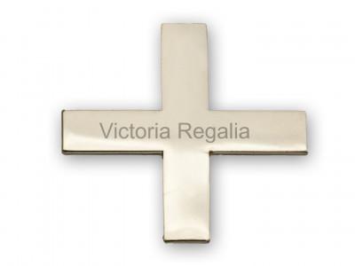 Knights Templar Silver Cap badge - English Constitution