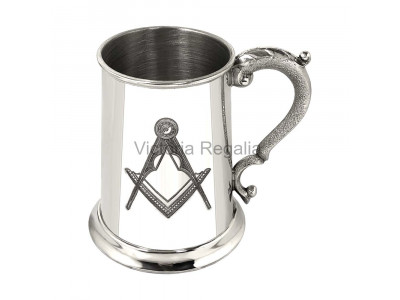 Masonic Tankard 1 pint made in Pewter with Square and Compass Engraved