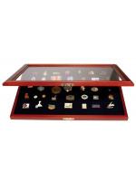 Masonic Lapel Pins Display Wooden Showcase